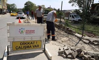 Ataşehir'de Alt yapı çalışmaları aralıksız sürüyor