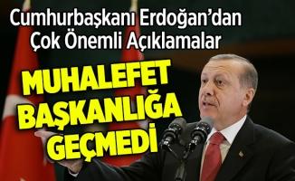 Cumhurbaşkanı Erdoğandan Çok Önemli Açıklamalar