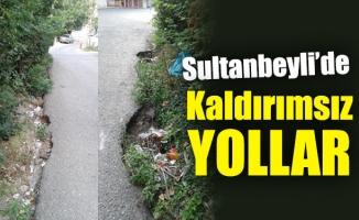 Sultanbeyli'de kaldırımsız yollar