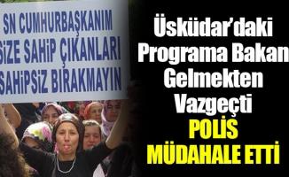 Üsküdar'de kentsel dönüşüm protestosu