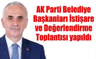 AK Parti Belediye Başkanları İstişare ve DeğerlendirmeToplantısı yapıldı