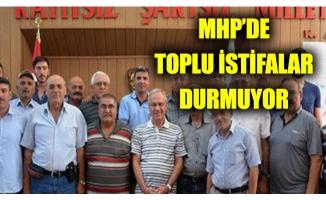 MHP'de toplu istifalar durmuyor
