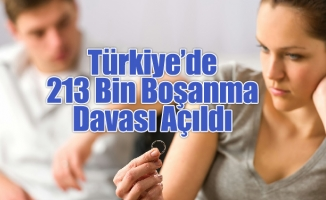 Türkiye'de 213 Bin Boşanma Davası Açıldı