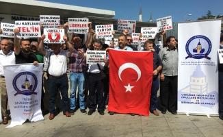 Üsküdar'da Arakan protestosu
