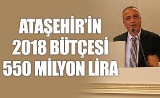 ATAŞEHİR'İN 2018 BÜTÇESİ 550 MİLYON LİRA