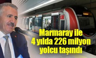Marmaray ile 4 yılda 226 milyon yolcu taşındı