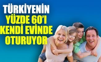 TÜRKİYENİN YÜZDE 60'I KENDİ EVİNDE OTURUYOR
