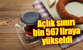 Açlık sınırı bin 567 liraya yükseldi