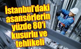 İstanbul'daki asansörlerin yüzde 80'i kusurlu ve tehlikeli