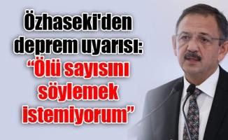 """Özhaseki'den deprem uyarısı: """"Ölü sayısını söylemek istemiyorum"""""""