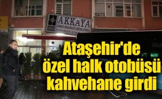 Ataşehir'de özel halk otobüsü kazası