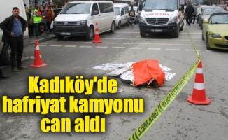 Kadıköy'de hafriyat kamyonu can aldı
