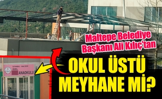 Maltepe Belediye Başkanı Ali Kılıç'tanOkul Üstü Kaçak Meyhane mi?
