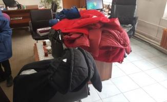 Öğrencilere giyim yardımı yapıldı