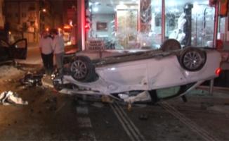 Ümraniye'de aşırı hız kazası; 1'i ağır 3 yaralı