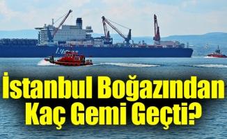 İstanbul Boğazından geçen gemiler ile ilgili rakamlar açıklandı …