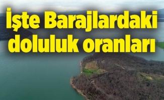 İşte Barajlardaki doluluk oranları