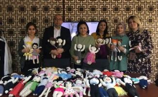 Kartal'daki Tekstil Kumbaralarından Çocukların Oynayacağı Bez Bebeklere