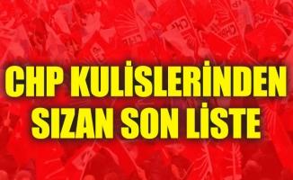 CHP Kulislerinden Sızan Son Liste