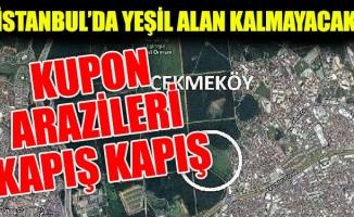 İSTANBUL'DA YEŞİL ALAN KALMAYACAK. KUPON ARAZİLERİ KAPIŞ KAPIŞ
