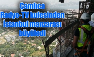 Çamlıca Radyo-TV kulesinden İstanbul manzarası büyüledi