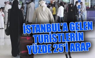 İSTANBUL'A GELEN TURİSTLERİN YÜZDE 25'İ ARAP