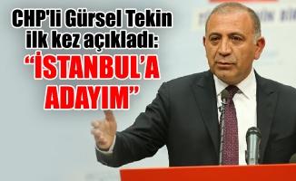"""CHP'li Gürsel Tekin ilk kez açıkladı: """"İstanbul'a adayım"""""""