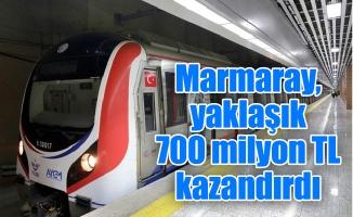 Marmaray, yaklaşık 700 milyon TL kazandırdı