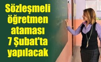Sözleşmeli öğretmen ataması 7 Şubat'ta yapılacak