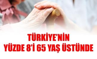 TÜRKİYE'NİN YÜZDE 8'İ 65 YAŞ ÜSTÜNDE
