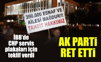İBB'de CHP servis plakaları için teklif verdi.AK Parti ret etti