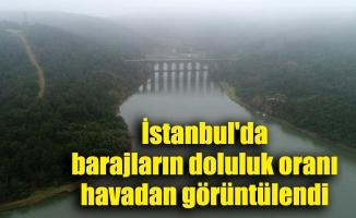 İstanbul'da barajların doluluk oranı havadan görüntülendi
