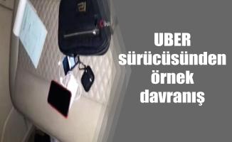UBER sürücüsünden örnek davranış
