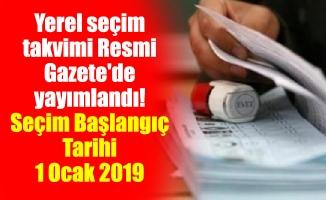 Yerel seçim takvimi Resmi Gazete'de yayımlandı!