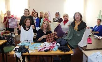 Ataşehirli Kadınlar Çevre İçin Bez Çanta Dikiyor