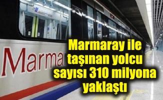 Marmaray ile taşınan yolcu sayısı 310 milyona yaklaştı