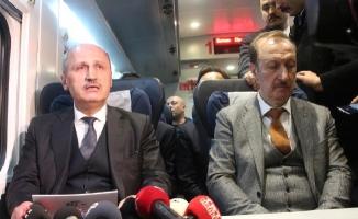 Bakan Turhan Gebze-Halkalı Demir Yolu Hattında test sürüşüne katıldı