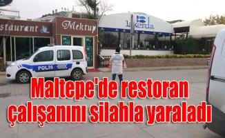 Maltepe'de restoran çalışanını silahla yaraladı