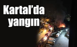 Kartal'da yangın
