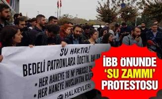 İBB önünde 'su zammı' protestosu