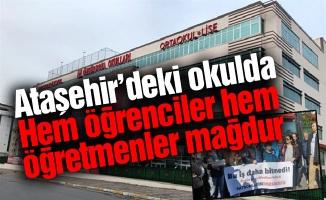 Ataşehir'deki okulda hem öğrenciler hem öğretmenler mağdur