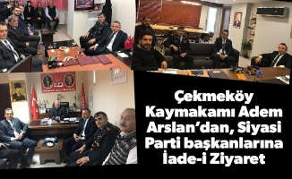 Çekmeköy Kaymakamı Adem Arslan'dan, Siyasi Parti başkanlarına İade-i Ziyaret