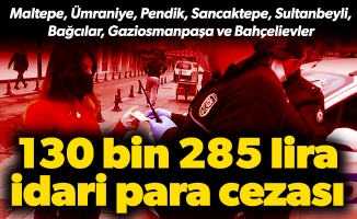 Korona virüs tedbirlerini ihlal eden 123 kişiye ceza