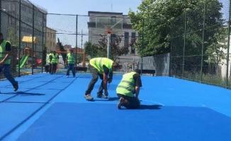 Basketbol Sahaları ve Çocuk Parkları Yenilendi