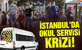 İstanbul'da okul servisi krizi!