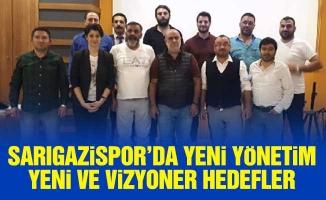Sarıgazispor'da yeni yönetim.Yeni ve vizyoner hedefler