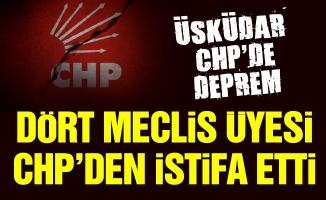 Üsküdar CHP'de deprem. Dört meclis üyesi CHP'den istifa etti