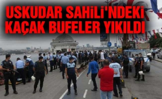 Üsküdar Sahili'ndeki kaçak büfeler yıkıldı