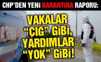 """CHP'den yeni karantina raporu:Vakalar """"Çığ"""" gibi, yardımlar """"yok"""" gibi!"""