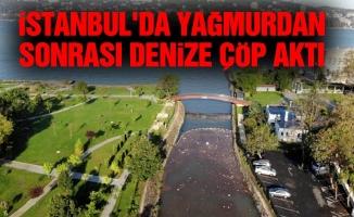 İstanbul'da yağmurdan sonrası denize çöp aktı